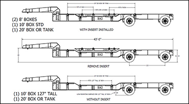 40ft-45ft Intermodal Chassis